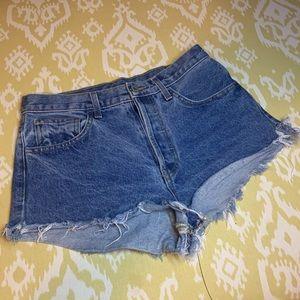 John Galt M Blue High Rise Jean Shorts